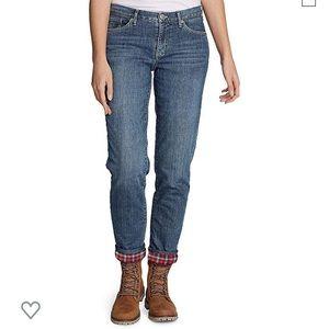 Eddie Bauer Boyfriend Flannel lined jeans